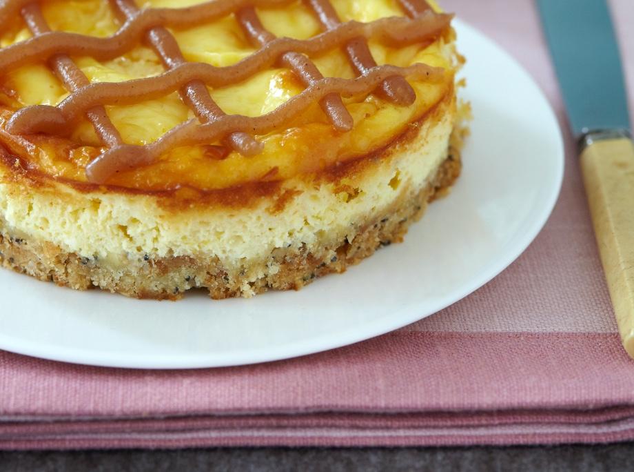Cheesecake iz keksov s sezamom, sončničnimi semeni in makom