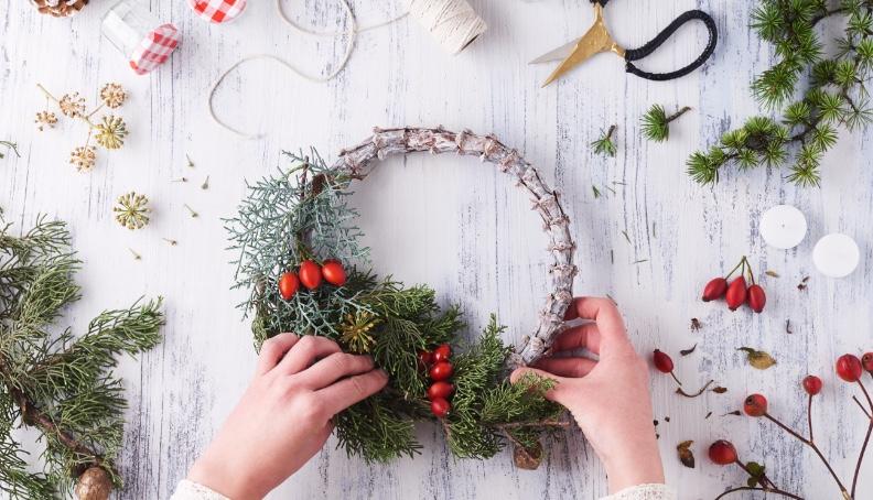 Božična mizna dekoracija